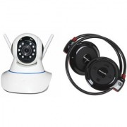 Mirza Wifi CCTV Camera and Mini 503 Bluetooth Headset for SAMSUNG GALAXY NOTE EDGE(Wifi CCTV Camera with night vision  Mini 503 Bluetooth Headset )