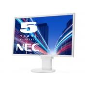 NEC MultiSync EA273WMi white 27' LCD monitor with LED backlight, IPS panel, resolution 1920x1080, VGA, DVI, DisplayPort, HDMI, speakers, 130 mm height adjustable