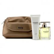 Vanitas Coffret: Eau De Toilette Spray 100ml/3.4oz + Body Lotion 100ml/3.4oz + Bag 2pcs+1Bag Vanitas Комплект: Тоалетна Вода Спрей 100мл + Лосион за Тяло 100мл + Чанта