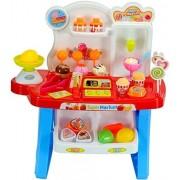 Petit Toys Luxury Supermarket Shop - Blue, Candy Sweet Shopping Cart, Ice Cream Supermarket Role Playset Toy for Kids