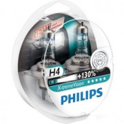 Set 2 Becuri auto far halogen Philips H4 X-treme Vision, +130%, 12V, 55W ManiaCars