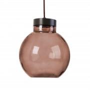 LEDS-C4 Lámpara colgante LED redonda Raw en marrón