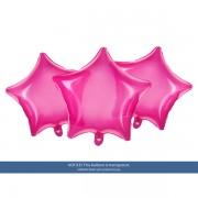 """Csillag alakú pink fólia lufi, átlátszó, 19""""/48cm"""