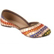 Traditional Collection Multicoloured doted lucky belly Bellies For Women(Multicolor)