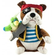 "Cuddle Barn Animated Plush Animal ""Pirate Pete""- Sings: Yo Ho Ho and a Bottle of Rum"