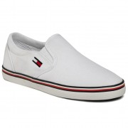 Гуменки TOMMY JEANS - Essential Slip On Sneaker EN0EN00782 White YBS