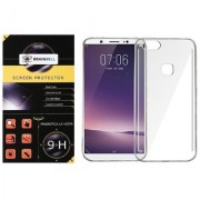 BrainBell OPPO F5 PREMIUM COMBO PACK OF TEMPERED GLASS SCREEN GUARD AND TRANSPARENT CASE