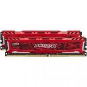 Ballistix Sport LT - DDR4 - 32 Go: 2 x 16 Go - DIMM 288 broches - 2400 MHz / PC4-19200 - CL16 - 1.2 V - mémoire sans tampon - non ECC - rouge