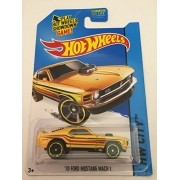 2014 Hot Wheels Hw City 70 Ford Mustang Mach 1 97/250 (Yellow)
