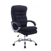 CLP Sedia da ufficio XXL Vancouver tessuto, nero , nero, altezza seduta