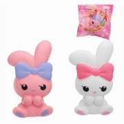 Jumbo Bowknot Rabbit Squishy Slow Rising House Play Toy 8*6*13cm With Packing Bag
