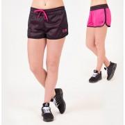 Gorilla Wear Madison Reversible Shorts - Zwart/ Roze - L