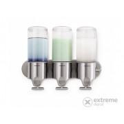 SimpleHuman BT1029 zidni dispenzer za sapun, tripla, inox, (3x444ml)