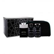 Bvlgari Man Black Cologne confezione regalo Eau de Toilette 100 ml + doccia gel 75 ml + balsamo dopobarba 75 ml + trousse uomo