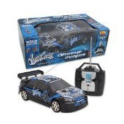 World Tech Toys West Coast Customs Tuner Style Extreme Ryders Rtr Rc Car, Black, 1:18 Scale