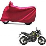 Intenzo Premium Full Red Two Wheeler Cover for Honda CB Hornet 160