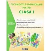 Documentele profesorului pentru cls 1 2013-2014 semestrul 1