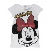 Tricou Minnie F alb