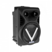 Set Boxa Activa Portabila Bluetooth BS-07 USB TF/SD Card Aux Radio FM Microfon si Lumini Neagra