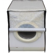 Glassiano Off White Colored Washing Machine Cover For Bosch WAB16161IN Fully Automatic Front Load 6 Kg