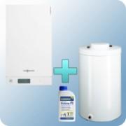 Viessmann Vitodens 100-W Touch 19 kW gázkazán, kondenzációs hőközpont Vitocell 100-W 120 L tárolóval EU-ERP ajándék Fernox Protector F1 inhibitorral - VI-B1HC068