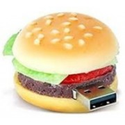 Microware Burger Shape 8gb Pendrive 8 GB Pen Drive(Brown)