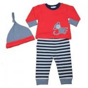 Bluza pantaloni si caciulita bebe