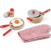 Set accesorii pentru gatit, rosu, educativ, lemn, Viga