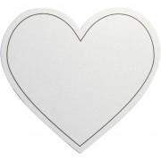Merkloos Hartvormige kaarten wit 10x stuks
