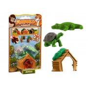 Set 2 figurine Anipals + casuta - testoasa si crocodil
