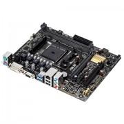Asus FM2+ A68HM-K Scheda Madre AMD, M-ATX, 2xD3 2400, USB 3, SATA 3, Nero