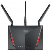 Router Wireless ASUS RT-AC86U, Gigabit, Dual Band, 2900 Mbps, 3 Antene Externe (Negru)