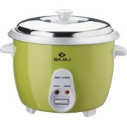 Bajaj RCX Duo Electric Rice Cooker(1.8 L, Silver, Green, White)