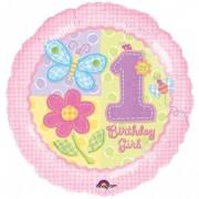 Balon folie BIRTHDAY GIRL roz