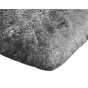 Covor Plusat 60x90 pentru Interior sau Baie cu Izolare Termica in Partea Inferioara, Culoare Gri