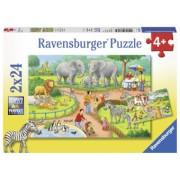 Puzzle Copii 4Ani+ zi la zoo, 2x24 piese
