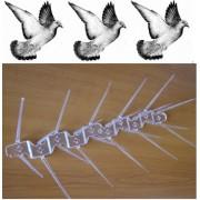 Țepi din policarbonat împotriva păsărilor (l. - 34 cm.) - 1 metru