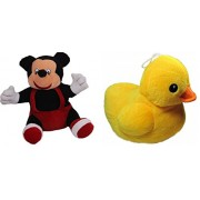 OYD Disney Mickey Mouse Plush Stuffed Plush Toy Premium fabric Best on Amazon (26 Cm) and Small Baby Duck Soft Toy (26 Cm) - Combo Stuffed Toys