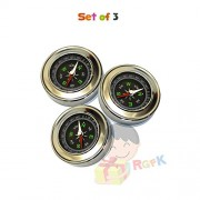 Stainless Steel Directional Magnetic Compass for Kids by RGFK - Pack of 3
