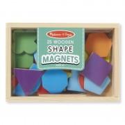 Forme magnetice din lemn Melissa & Doug, 25 forme, 2 ani+