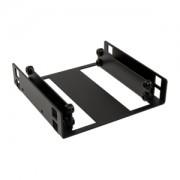 Adaptor Lian Li HD-323 de la 3.5 inch la 2x 2.5 inch HDD/SSD, aluminiu, culoare neagra