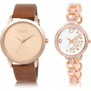 The Shopoholic Rose Gold White Combo Latest Collection Fancy And Attractive Rose Gold And White Dial Analog Watch For Boys And Girls Watches For Boys Stylish
