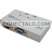 Rextron VGA Extender: 1 VGA-IN + 1 VGA-OUT + 2 RJ45-OUT (EV-112L)