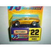 Matchbox 75 Challenge 1997 Edition Lamborghini Diablo Gold #22