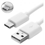 USB Type C Cable (Compatible with All Phones With Type C port White Sync and Charge Cable)