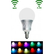 LED E14 Bulb - 5W - RGB/Warm wit