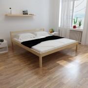 vidaXL Cama com colchão 180x200 cm madeira de pinho maciça