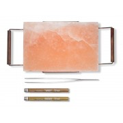 Plancha Sal rosa del Himalaya para asar carne a la piedra