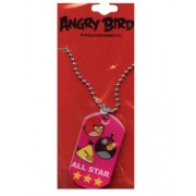 Red Angry Birds All Star Dogtag - Angry Birds Dog Tag