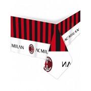 Deguisetoi Nappe en plastique AC Milan 120 x 180 cm